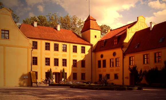 Castle Krokowa of von Krockow family. Today museum, hotel and to tourist attraction in Pomerania, northern Poland