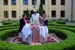 Krytyk kulinarny Artur Michna na zamku w Krokowej